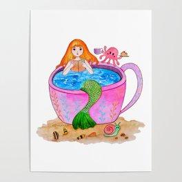 Happy mermaid Poster