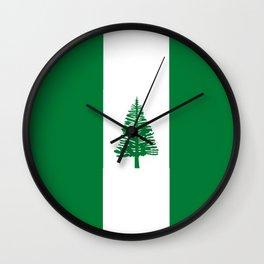 flag of norfolk Wall Clock