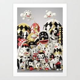 Pets and Monsters Art Print