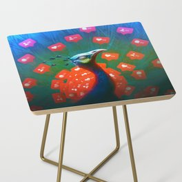 Social Media Peacock Side Table