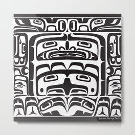 Bentwood Box Black Formline Metal Print
