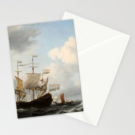 Willem van de Velde the Younger - A Dutch Flagship Coming to Anchor Stationery Cards