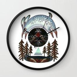 Fleeting Full Moon Wall Clock