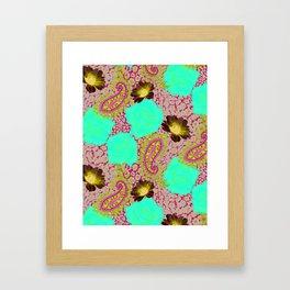 Rose Paisley w skin Framed Art Print