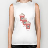 starbucks Biker Tanks featuring Christmas Design Starbucks  by swiftstore