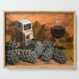 Bell and Howell with Black Grapes Serving Tray