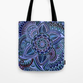 Really Blue Henna Style Tote Bag