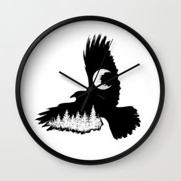 Winged Woods Wall Clock