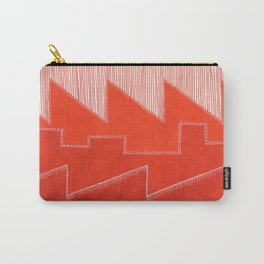 Factory Skyline - Red and Orange Carry-All Pouch