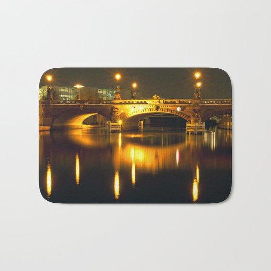 Moltke-Bridge at the river Spree in Berlin Bath Mat