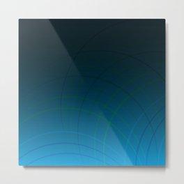 Abstract Circular Lines Metal Print