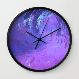 Abstract Blue Storm  by Robert S. Lee Wall Clock