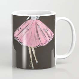 Jolie Pink Fashion Illustration Coffee Mug
