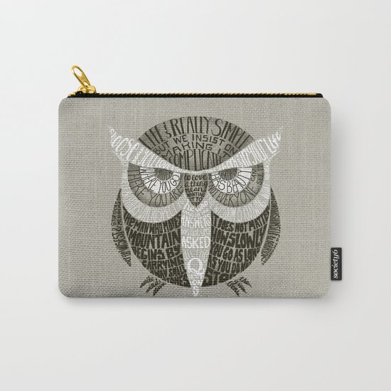 Wise Old Owl Says Carry-All Pouch