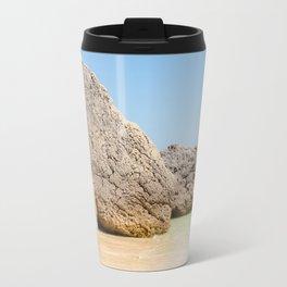 Arrabida Beach Portugal Travel Mug
