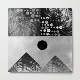 Black and white landscape Metal Print