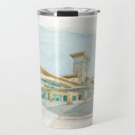 Watercolor Warwick World Headquarters Travel Mug