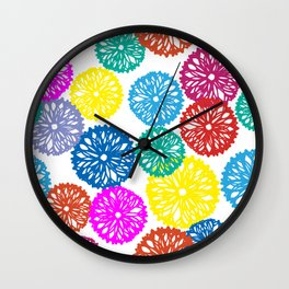 Party Banners Wall Clock