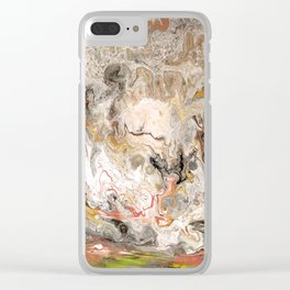Earth Strata Marble Clear iPhone Case