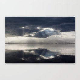 The sun is coming. Canvas Print