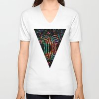 jungle V-neck T-shirts featuring Jungle by Marta Olga Klara