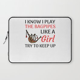 Bagpipe Gifts For Women   Bagpiper Bagpipe Lover Laptop Sleeve