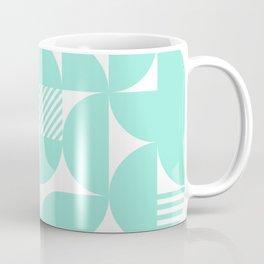 Seafoam Mid Century Bauhaus Semi Circle Pattern Coffee Mug