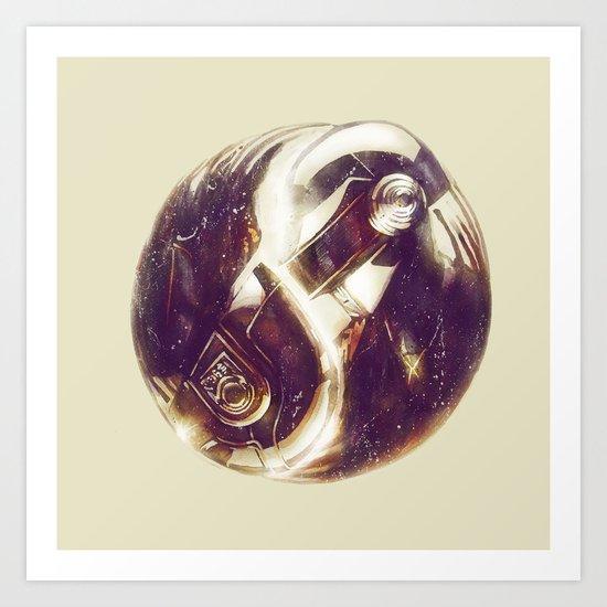 The Tao of Daft Punk Art Print