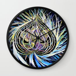 Celestial Lotus  Wall Clock