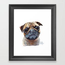 I AM A PUG by Shirley MacArthur Framed Art Print