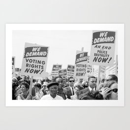 March on Washington Protest, 1963 Art Print