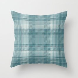 Pastel Blue Plaid Throw Pillow