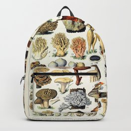 Adolphe Millot - Champignons A - French vintage poster Backpack