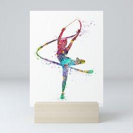 Rhythmic Gymnastics Print Sports Print Watercolor Print Mini Art Print