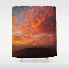 Haleakala's Colorful Sunset Shower Curtain