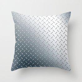 Diamond Plate Metal Pattern Throw Pillow