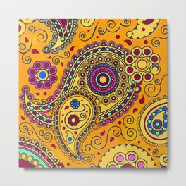 African Style No3 Metal Print