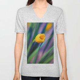 Itsy Bitsy Daffodil Bloom Unisex V-Neck