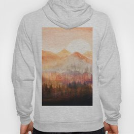 Forest Shrouded in Morning Mist Hoody