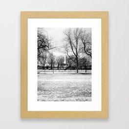 Stacks, Parc Laurier Framed Art Print