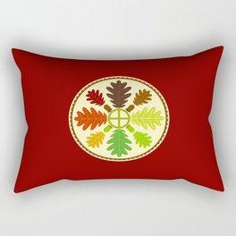 Mighty Oak Folk Art Hex Sign Rectangular Pillow