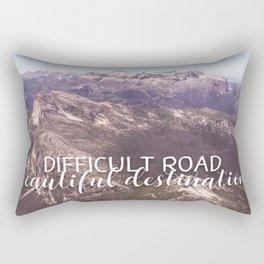 difficult road beautiful destination Rectangular Pillow