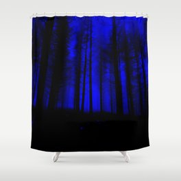 fantasy forest at night Shower Curtain