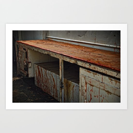 Bloody Bench Art Print