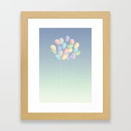 Balloons bouquet Framed Art Print