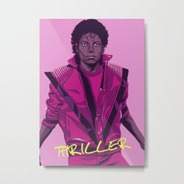 THRILLER - Leather jacket Version Metal Print
