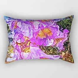 Purple Bell Flower Rectangular Pillow