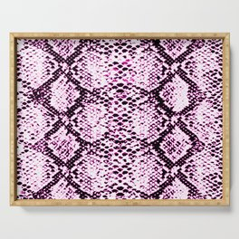 pink neon snake print Serving Tray