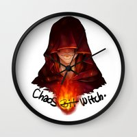 dark souls Wall Clocks featuring Dark Souls - Chaos Witch Quelana by Vivid-K