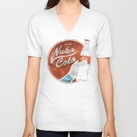 fallout 3 V-neck T-shirts featuring NUKA COLA FALLOUT  by Melroune